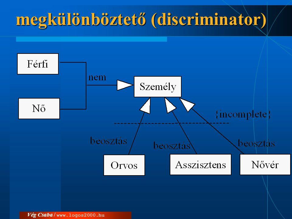 megkülönböztető (discriminator)