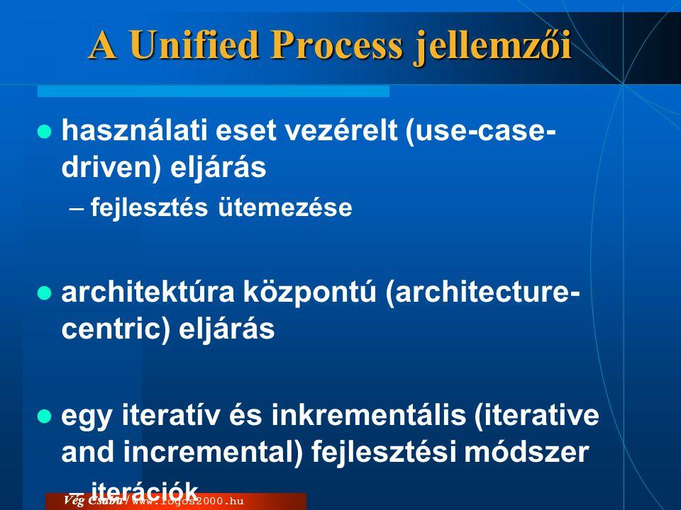 A Unified Process jellemzői