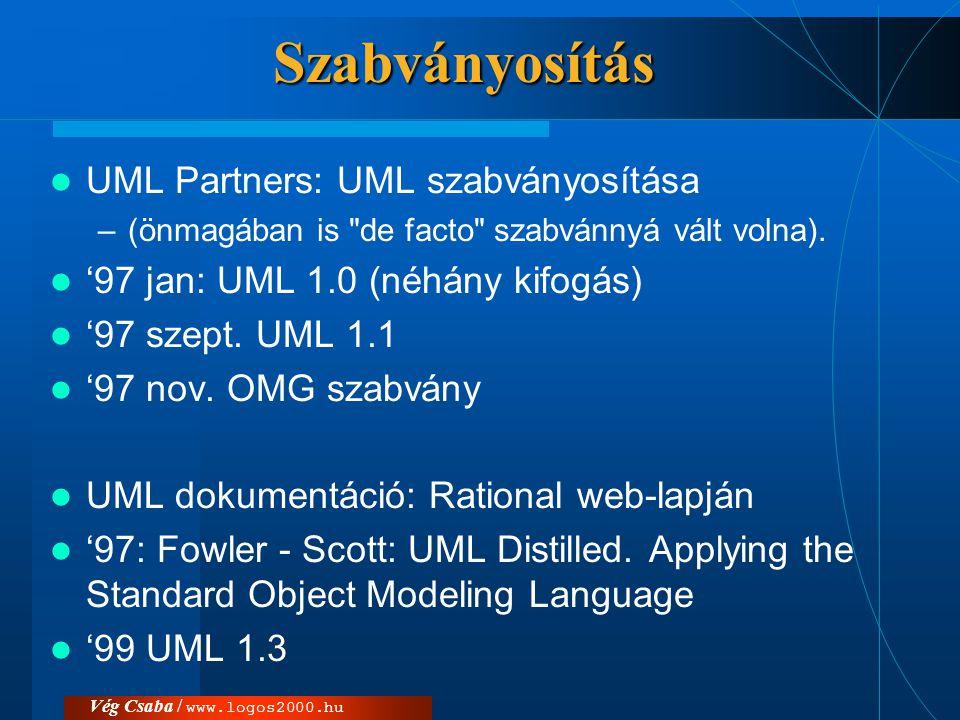 Szabványosítás UML Partners: UML szabványosítása