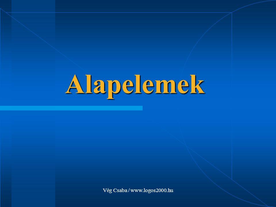 Alapelemek Vég Csaba / www.logos2000.hu