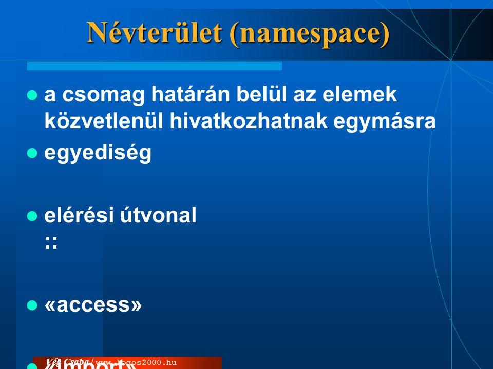 Névterület (namespace)