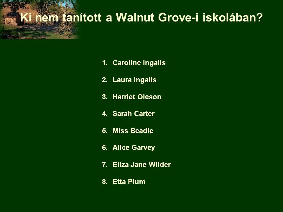 Ki nem tanított a Walnut Grove-i iskolában