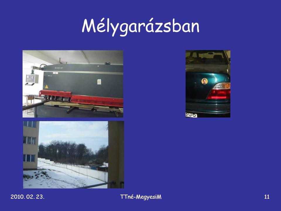 Mélygarázsban 2010. 02. 23. TTné-MegyesiM