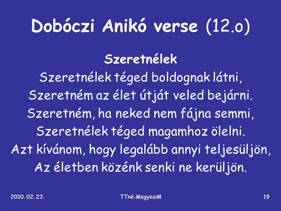 Dobóczi Anikó verse (12.o)