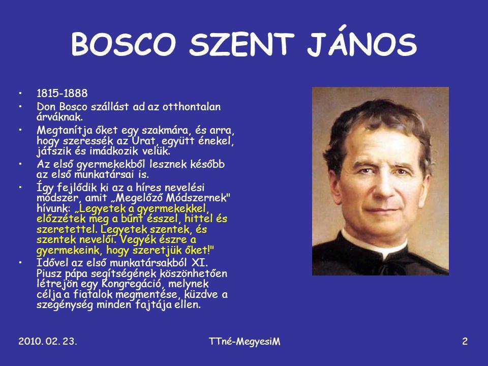 BOSCO SZENT JÁNOS 1815-1888. Don Bosco szállást ad az otthontalan árváknak.