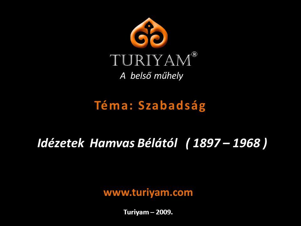Idézetek Hamvas Bélától ( 1897 – 1968 )