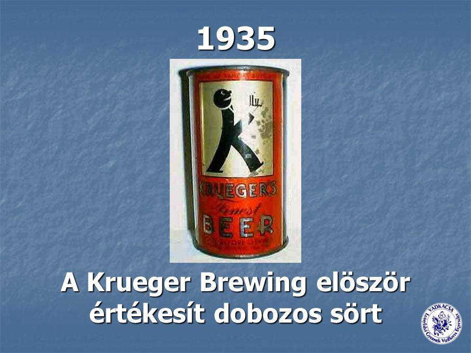 A Krueger Brewing elöször értékesít dobozos sört