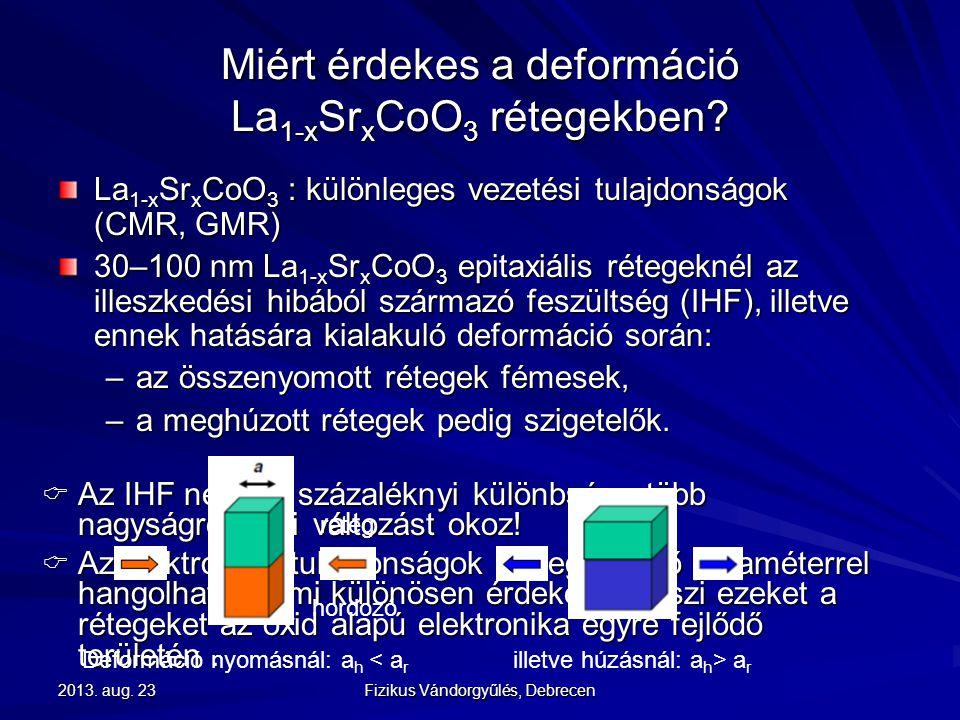 Miért érdekes a deformáció La1-xSrxCoO3 rétegekben