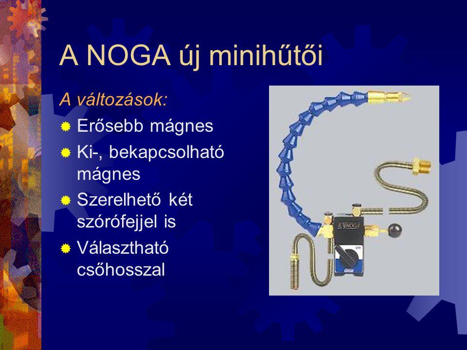 A NOGA új minihűtői A változások: Erősebb mágnes