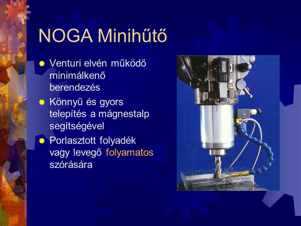 NOGA Minihűtő Venturi elvén működő minimálkenő berendezés