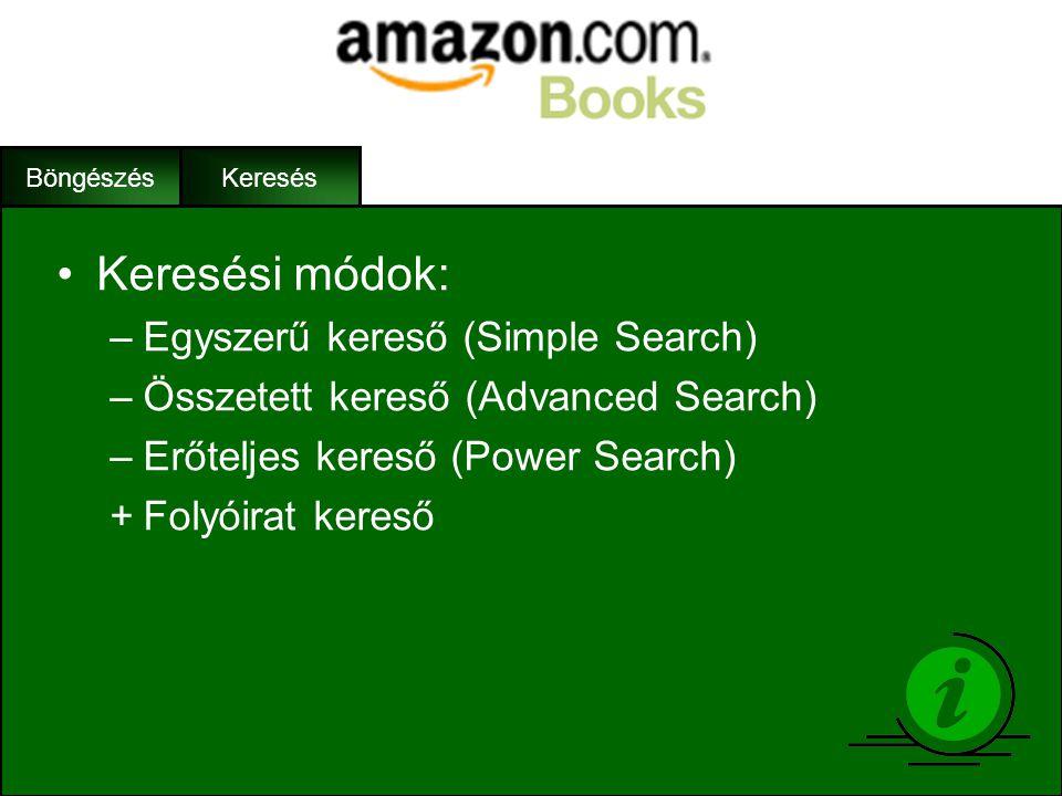 Keresési módok: Egyszerű kereső (Simple Search)