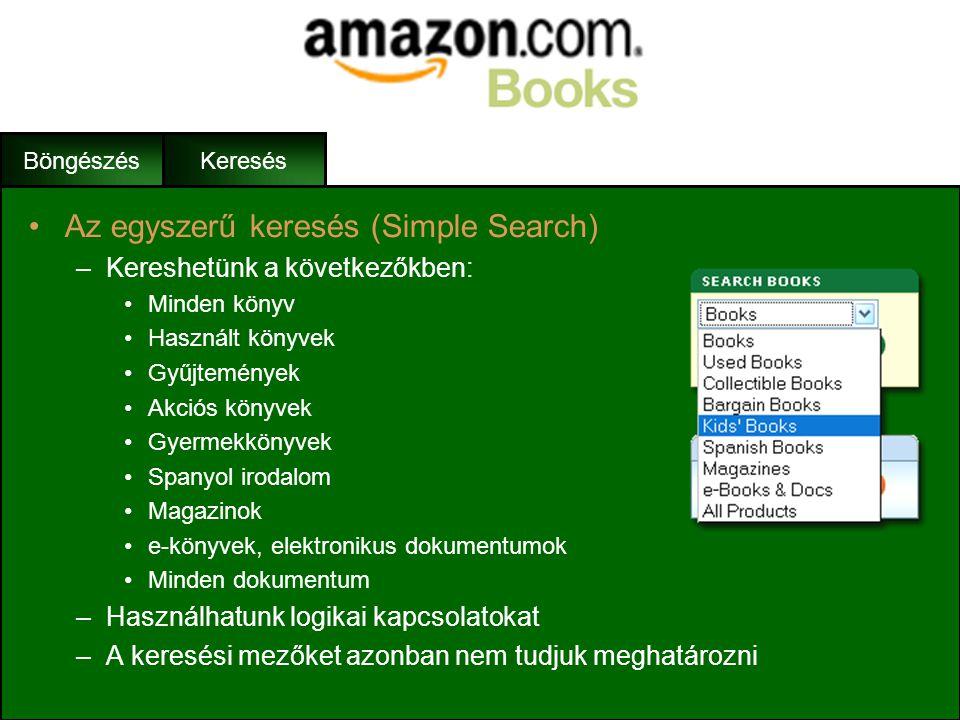 Az egyszerű keresés (Simple Search)