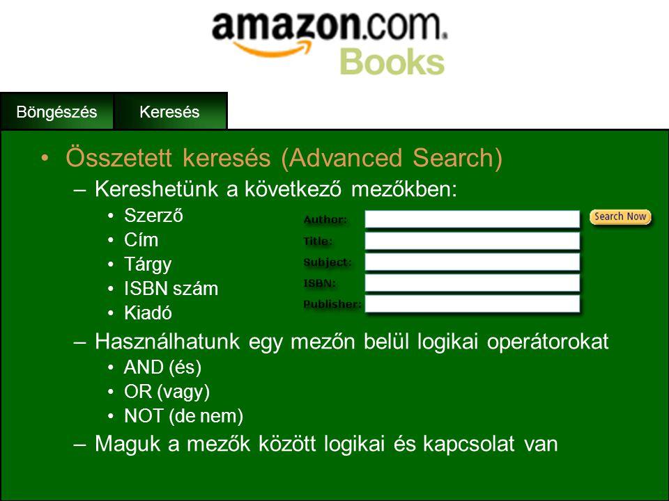 Összetett keresés (Advanced Search)