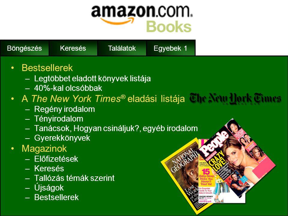 A The New York Times® eladási listája