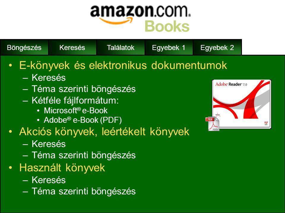 E-könyvek és elektronikus dokumentumok