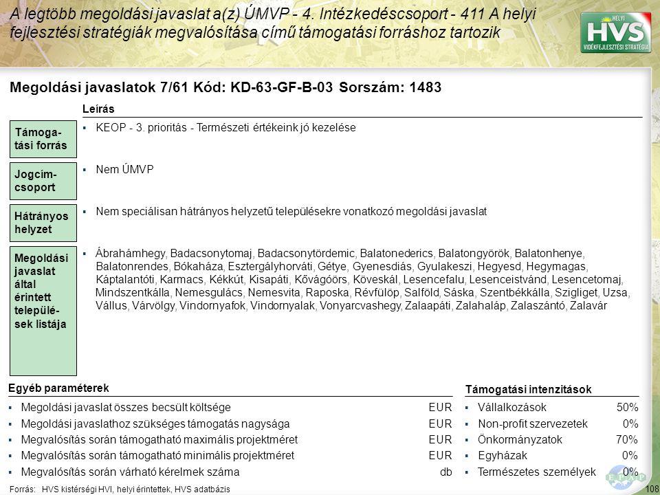 Megoldási javaslatok 8/61 Kód: KD-63-GF-A-12 Sorszám: 1485
