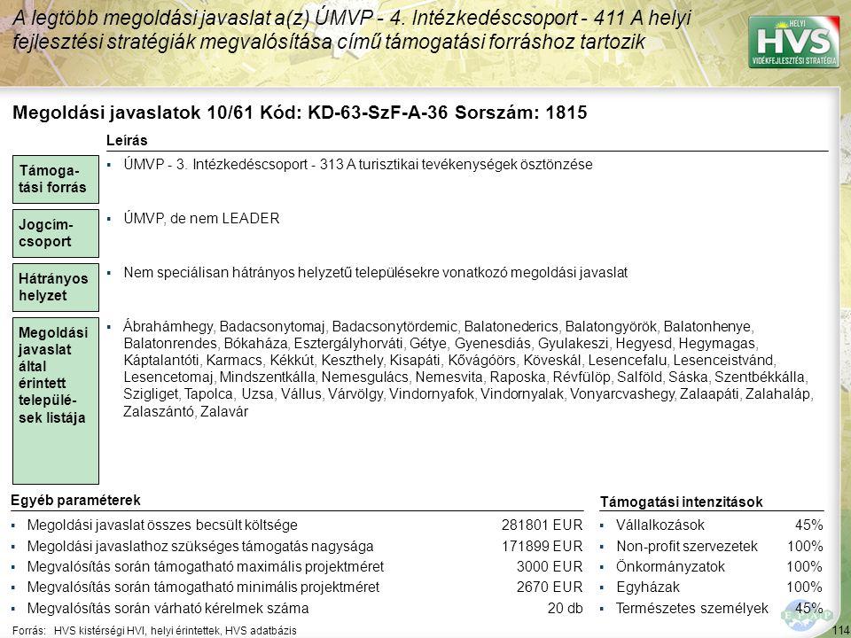 Megoldási javaslatok 11/61 Kód: KD-63-SzF-A-20 Sorszám: 1906