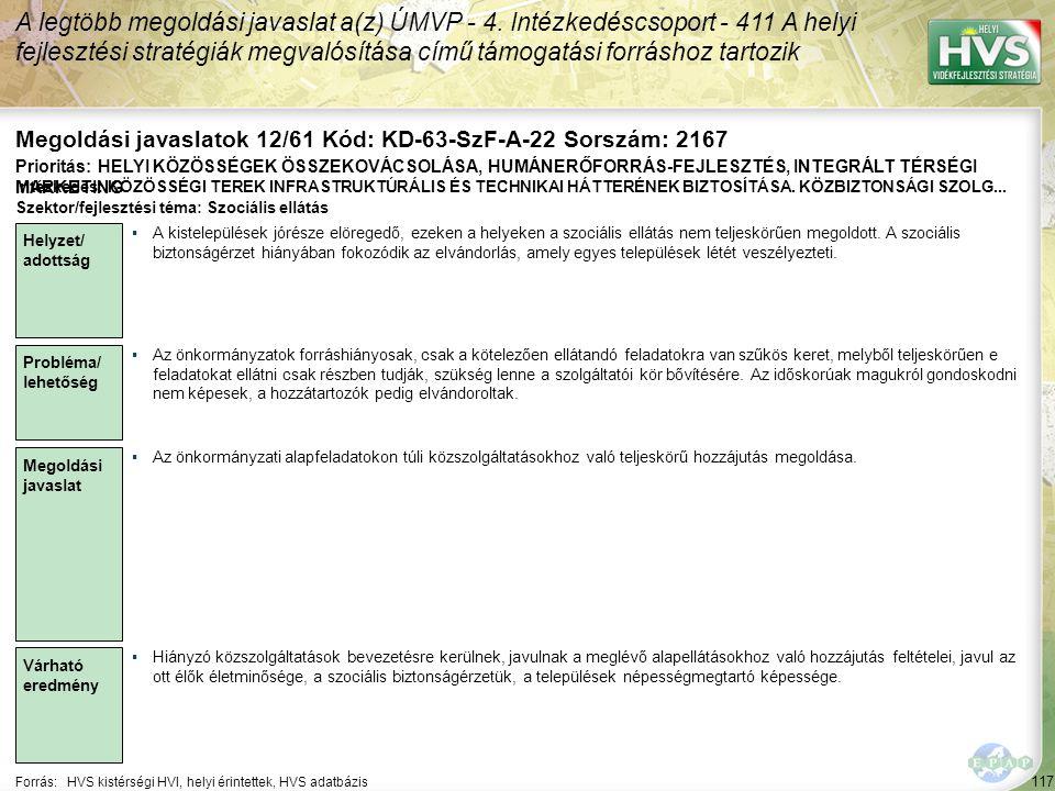 Megoldási javaslatok 12/61 Kód: KD-63-SzF-A-22 Sorszám: 2167