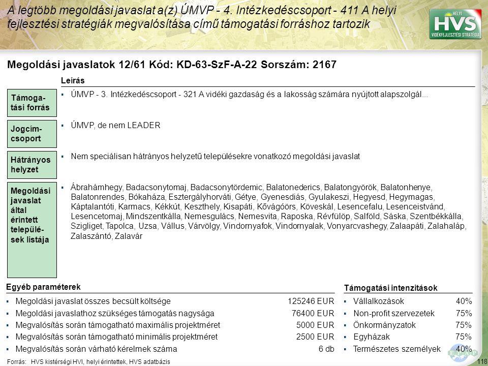 Megoldási javaslatok 13/61 Kód: KD-63-SzF-A-25 Sorszám: 1662