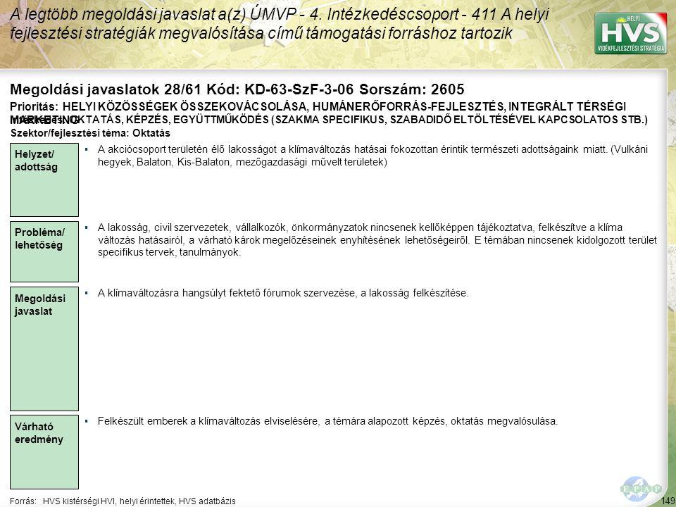 Megoldási javaslatok 28/61 Kód: KD-63-SzF-3-06 Sorszám: 2605