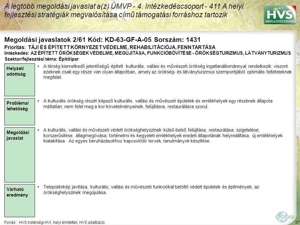 Megoldási javaslatok 2/61 Kód: KD-63-GF-A-05 Sorszám: 1431