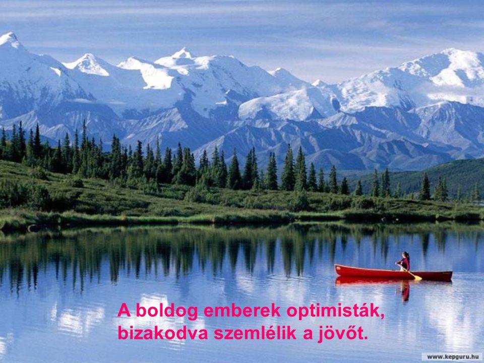 A boldog emberek optimisták,