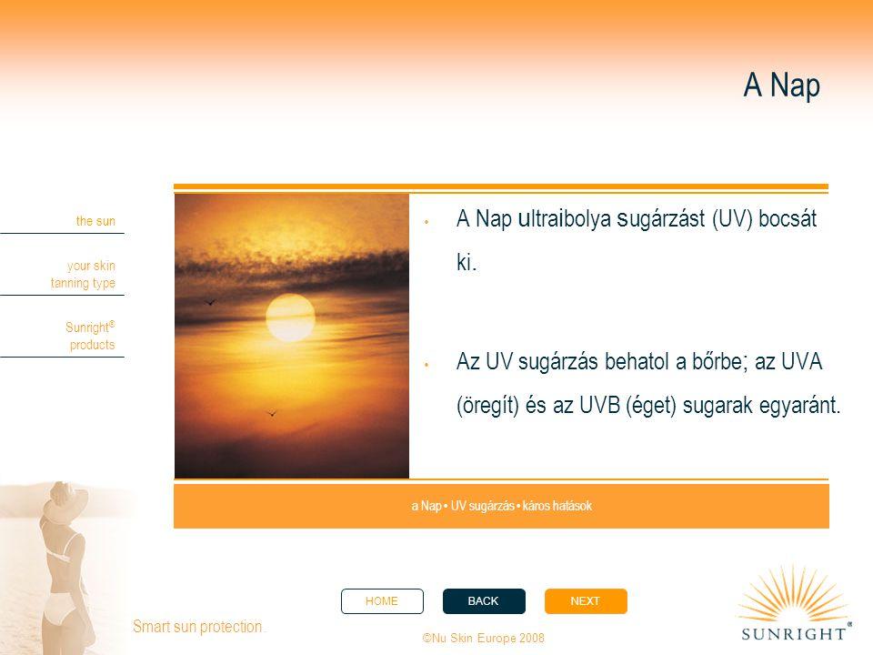 a Nap • UV sugárzás • káros hatások