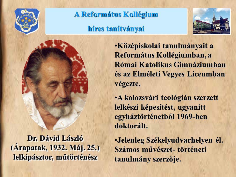 A Református Kollégium híres tanítványai