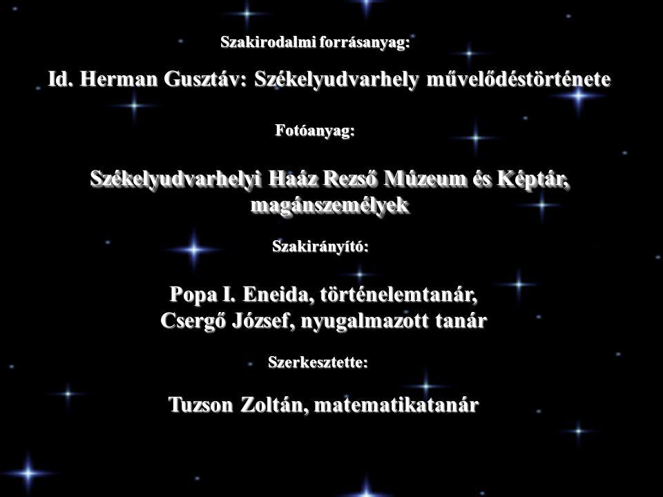 Id. Herman Gusztáv: Székelyudvarhely művelődéstörténete