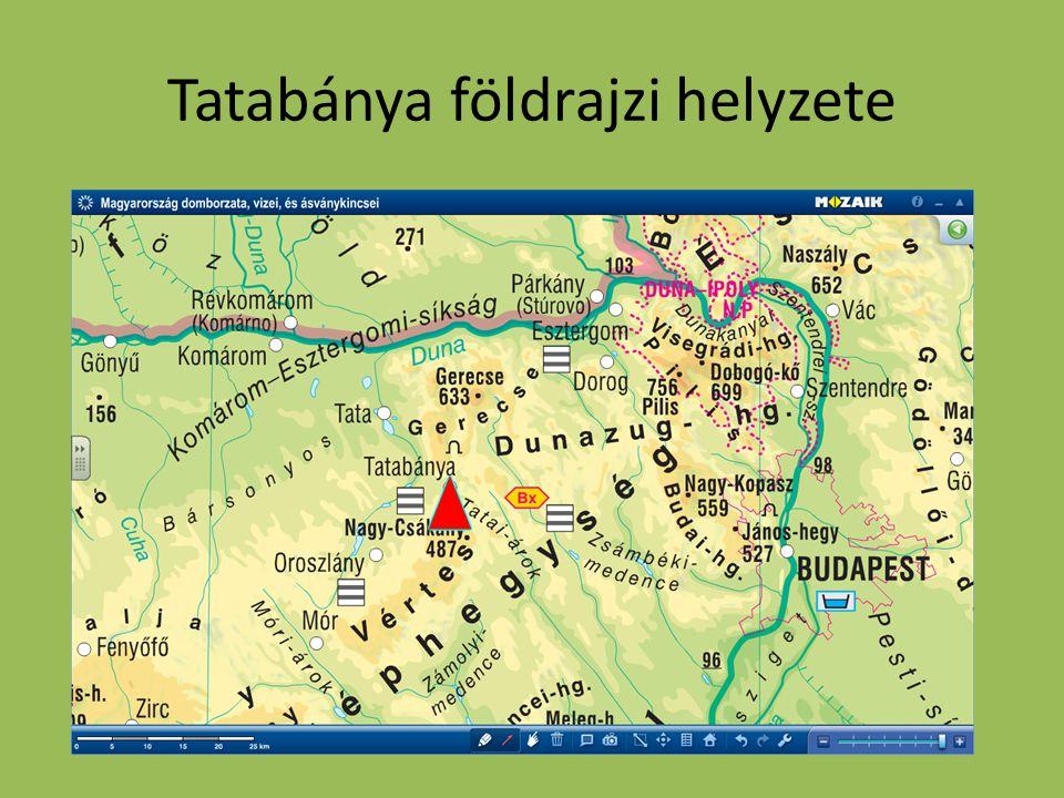 Tatabánya földrajzi helyzete