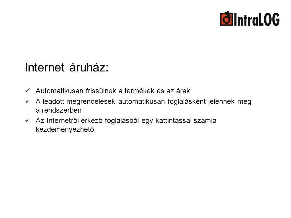 Internet áruház: Automatikusan frissülnek a termékek és az árak