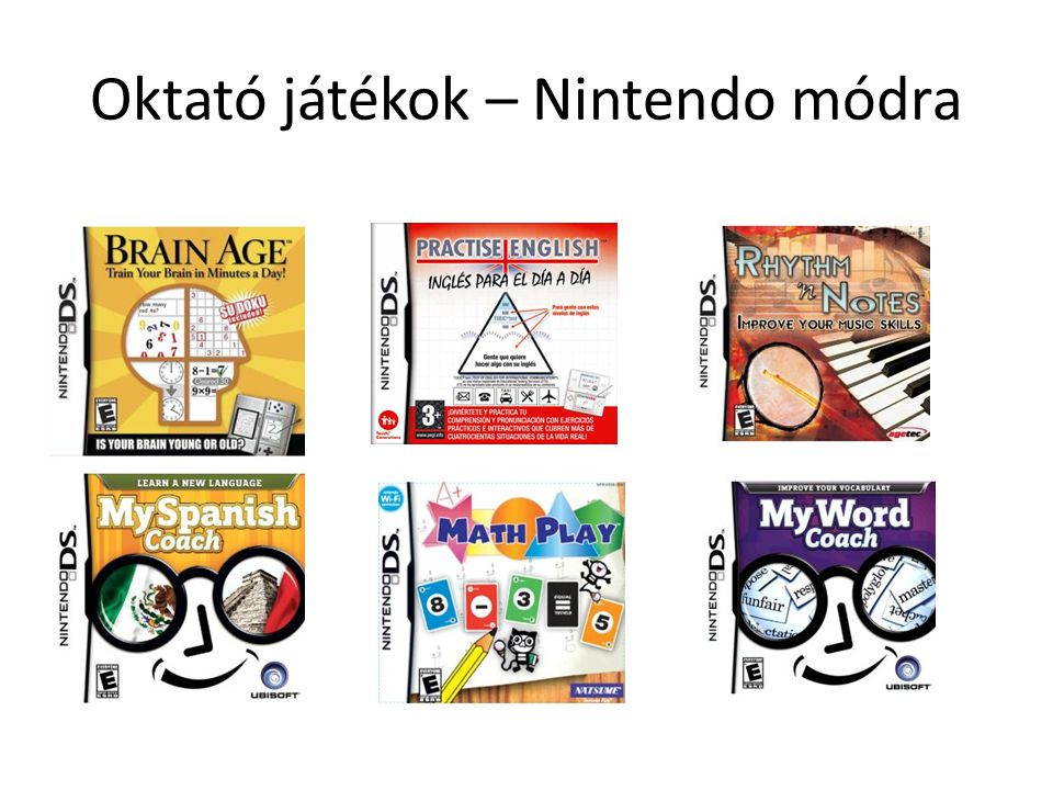 Oktató játékok – Nintendo módra