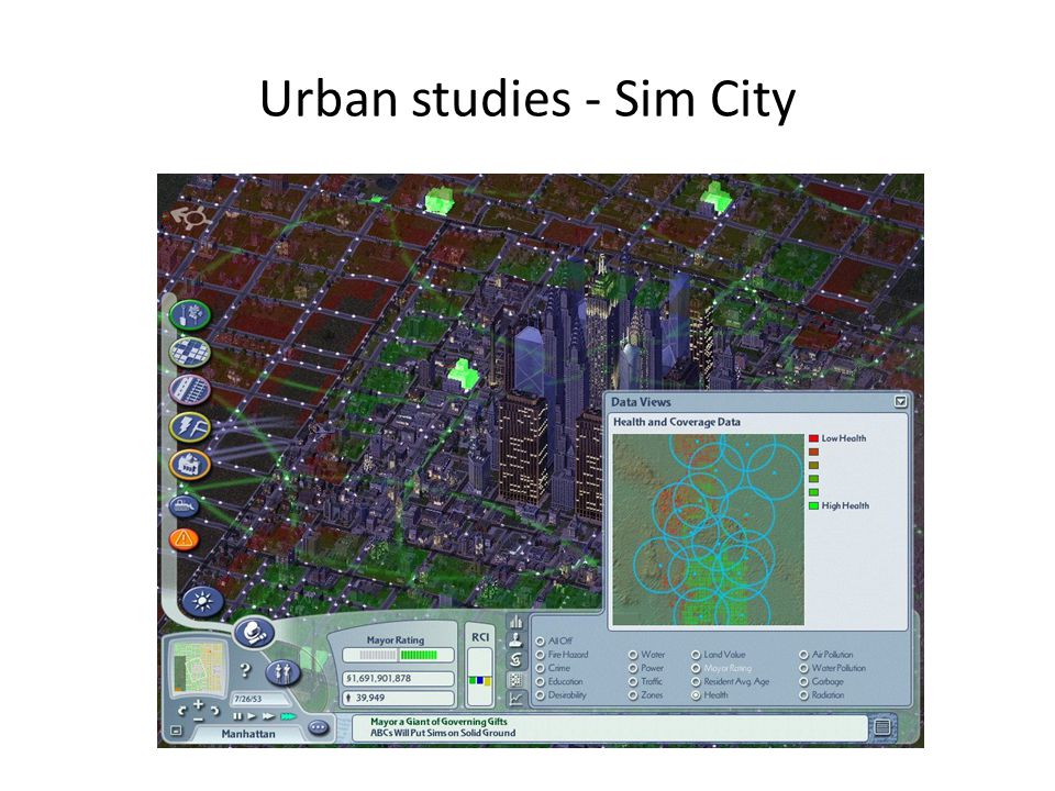 Urban studies - Sim City