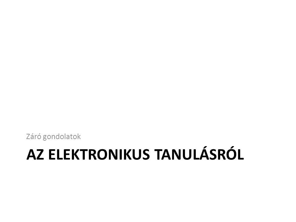 Az elektronikus tanulásról