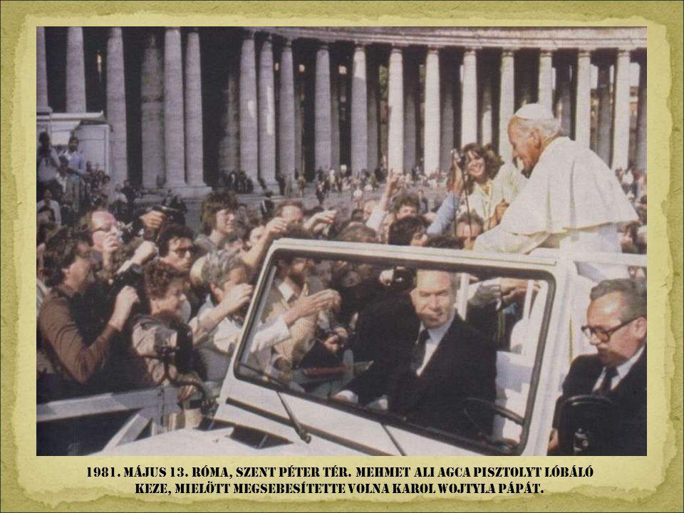 1981. Május 13. róma, Szent Péter tér