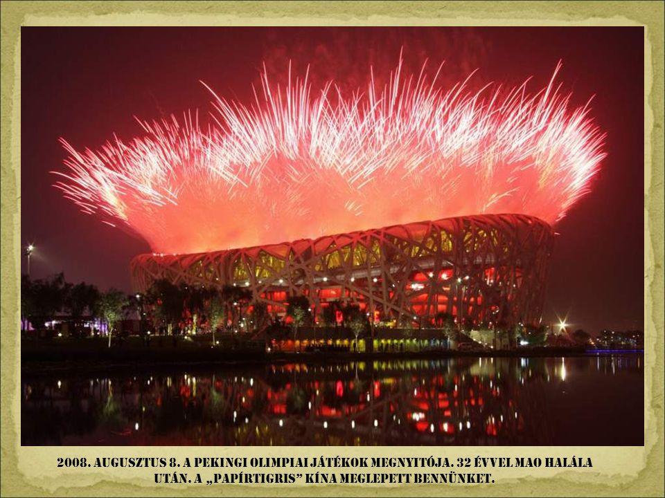 2008. augusztus 8. A Pekingi olimpiai játékok megnyitója