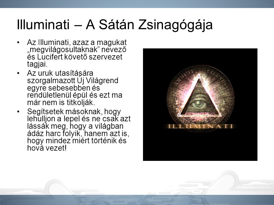 Illuminati – A Sátán Zsinagógája