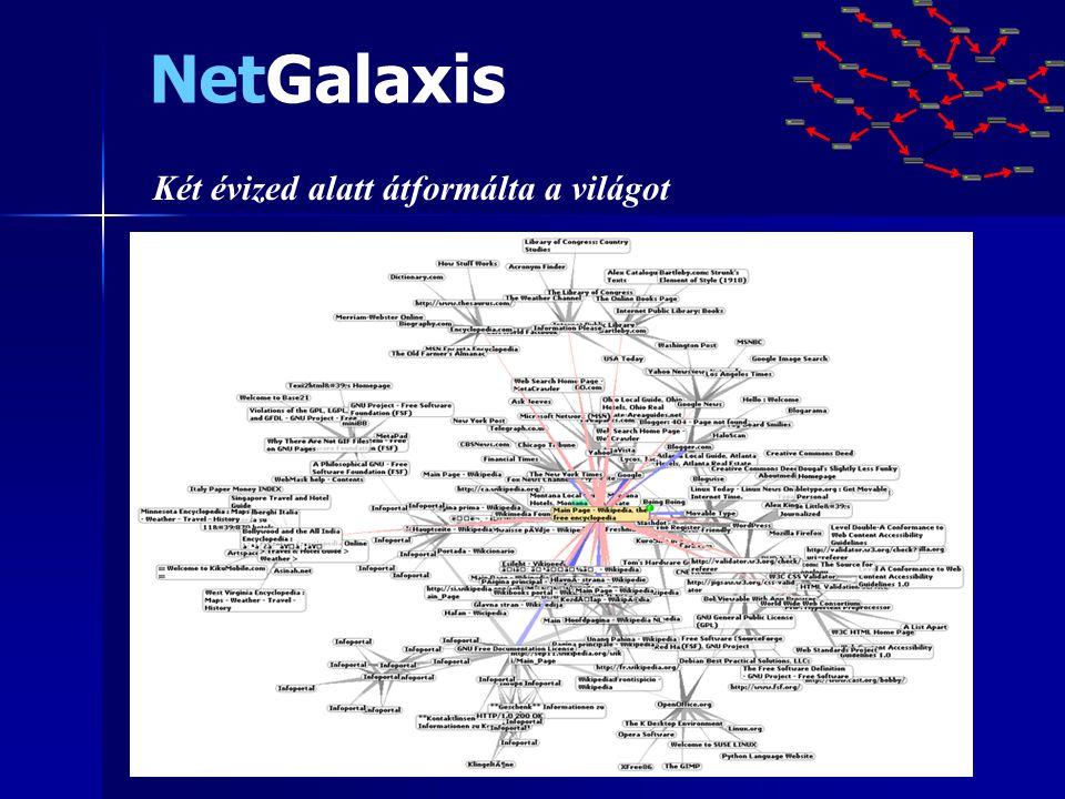 NetGalaxis Két évized alatt átformálta a világot