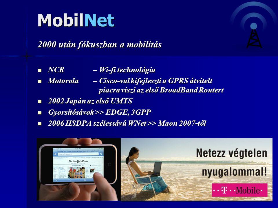 MobilNet 2000 után fókuszban a mobilitás NCR – Wi-fi technológia