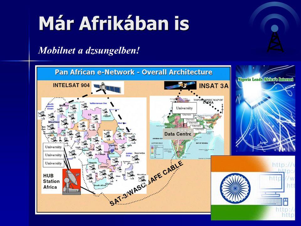 Már Afrikában is Mobilnet a dzsungelben!