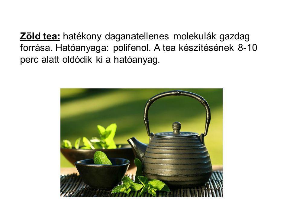 Zöld tea: hatékony daganatellenes molekulák gazdag forrása