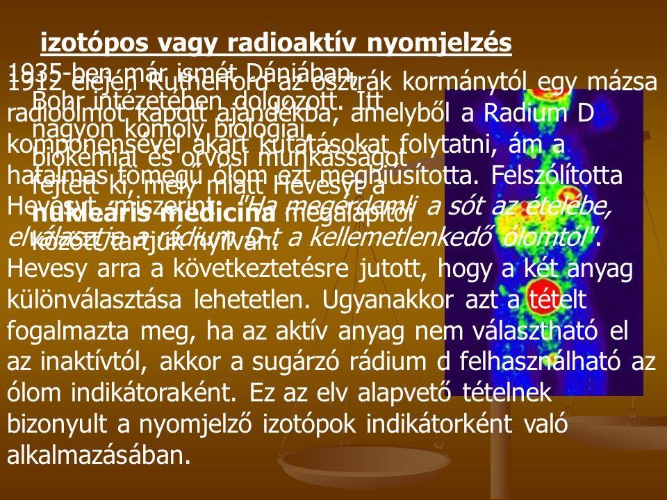 izotópos vagy radioaktív nyomjelzés