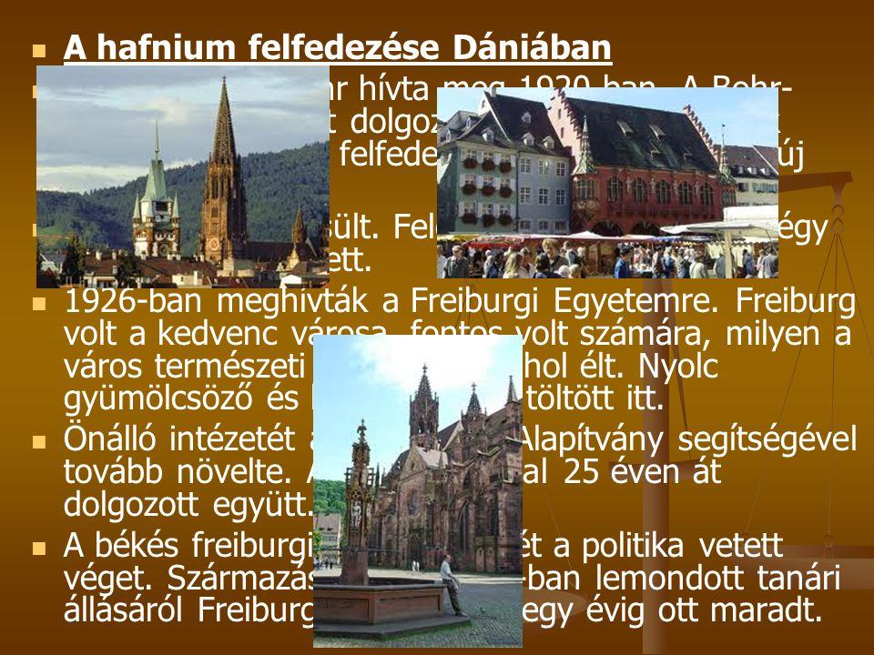 A hafnium felfedezése Dániában