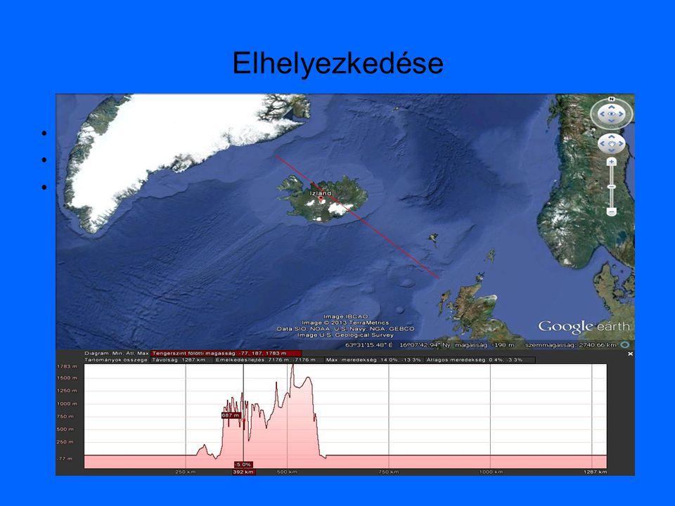 Elhelyezkedése Atlanti-óceán közepén Két kőzetlemez határán