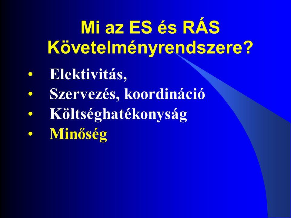 Mi az ES és RÁS Követelményrendszere