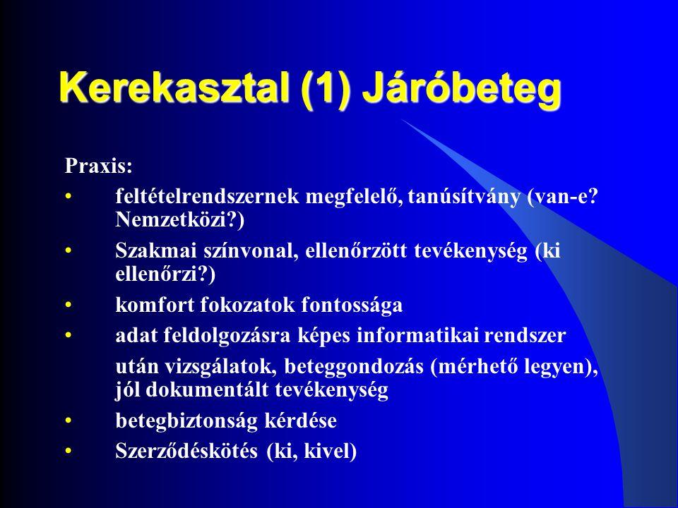 Kerekasztal (1) Járóbeteg
