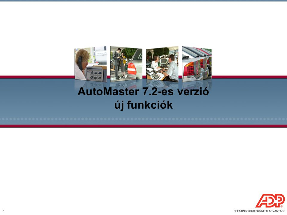 AutoMaster 7.2-es verzió új funkciók
