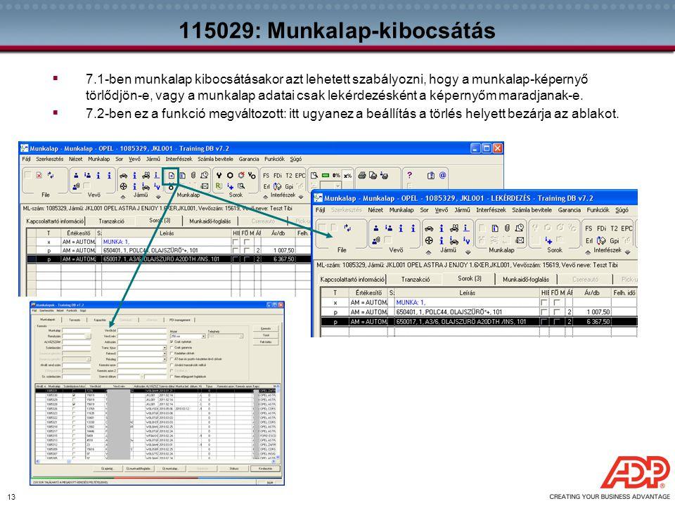 115029: Munkalap-kibocsátás