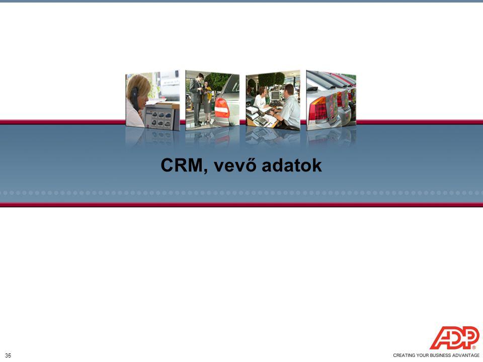 CRM, vevő adatok 35