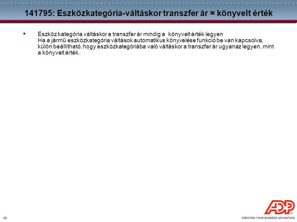 141795: Eszközkategória-váltáskor transzfer ár = könyvelt érték